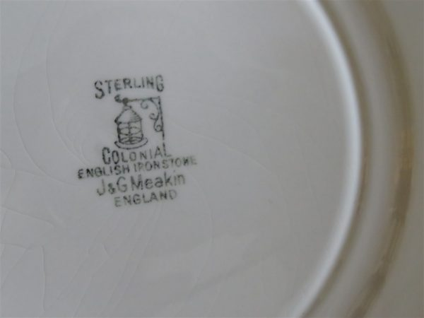 Dinner Plate Sterling Colonial English Ironstone by J & G MEAKIN 2
