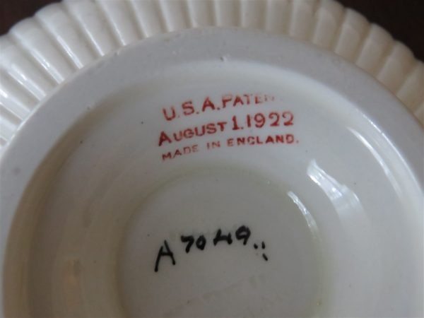 Footed Cream Soup Bowl & Saucer Set A7049 by WEDGWOOD 4